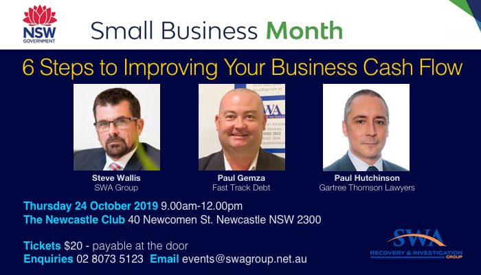 SWA Cash Flow Newcastle Seminar